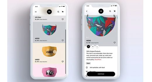 Ecommerce XD app template & animation