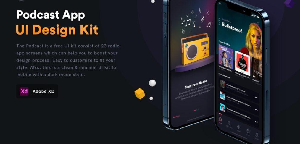 Free XD Podcast UI kit