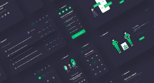 Helpdown free app dashboard XD UI kit