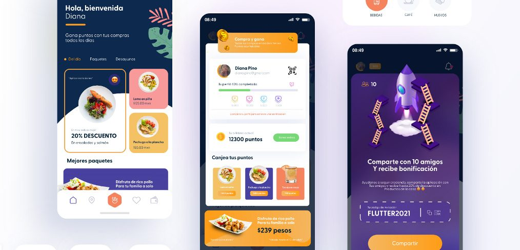 Restaurant reward XD app template