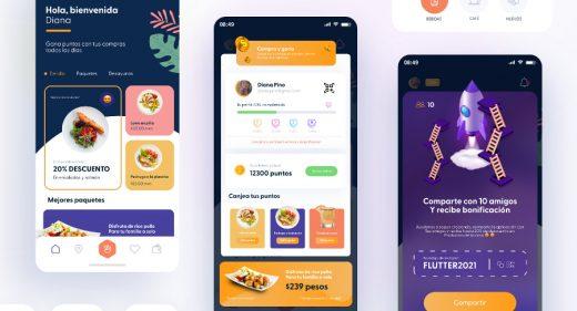 Restaurant reward XD app template