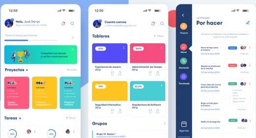 Task app XD mobile template