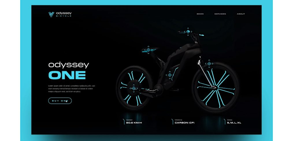 Free Bicycle XD website template