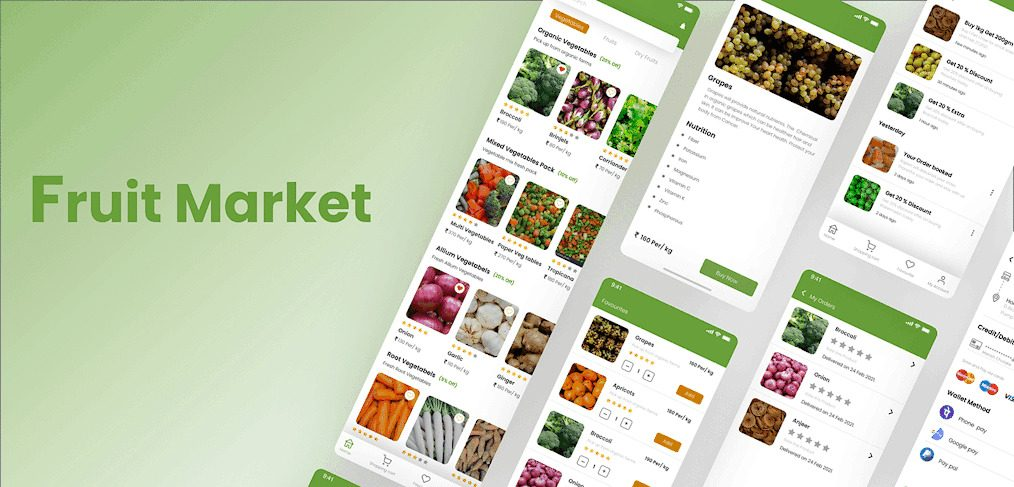 Fruit market free XD UI kit