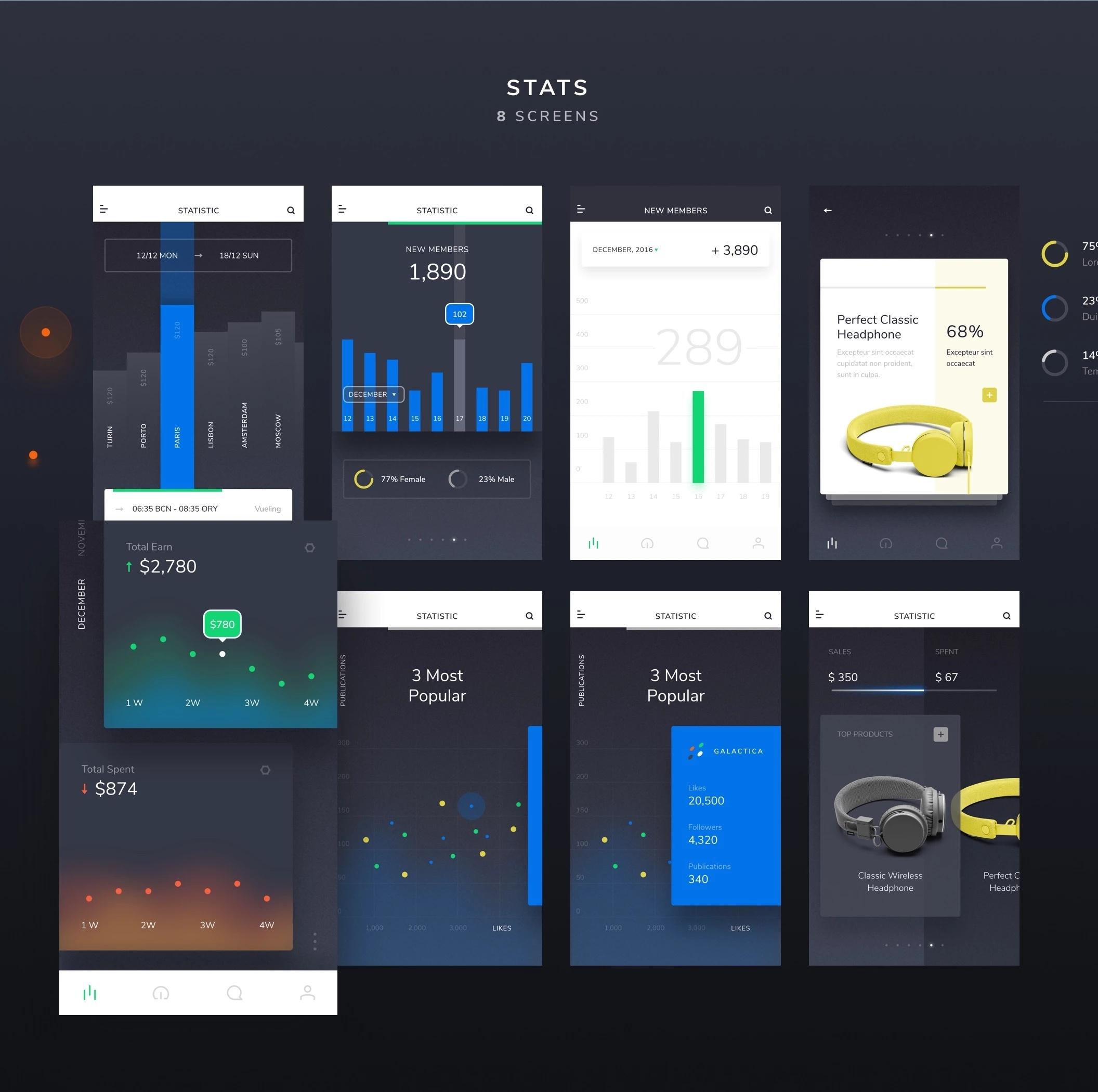 XD UI Kit - Изящный iOS комплект UI для Adobe XD