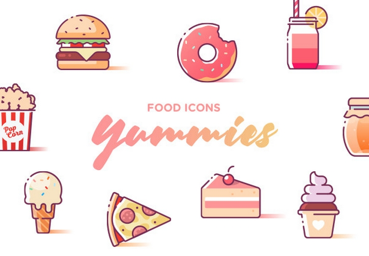Yummies - Food Icons for Adobe XD