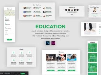 Adobe XD Freebie-EDUCATION
