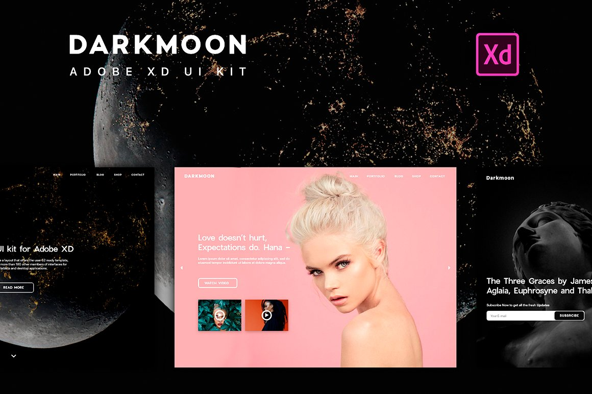 Darkmoon UI Kit - Modern UI kit perfect for ecommerce & personal use