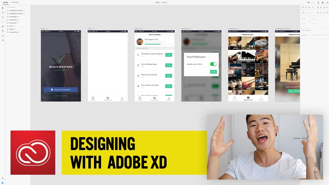 MusicMasters Files — An Adobe XD Collaboration