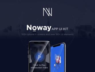 Noway Mobile App UI Kit - 100+ Шаблонов экранов iPhone X