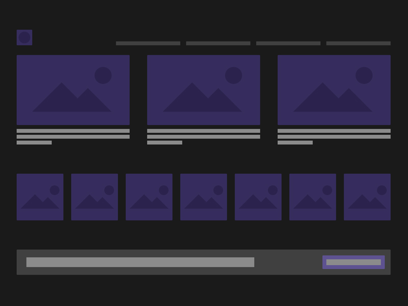 Темный комплект UI низкого качества для Adobe XD