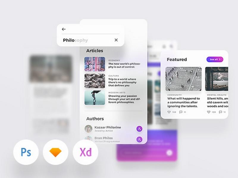 Lydia UI Kit – Набора UI для мобильных приложений изданий/блогов