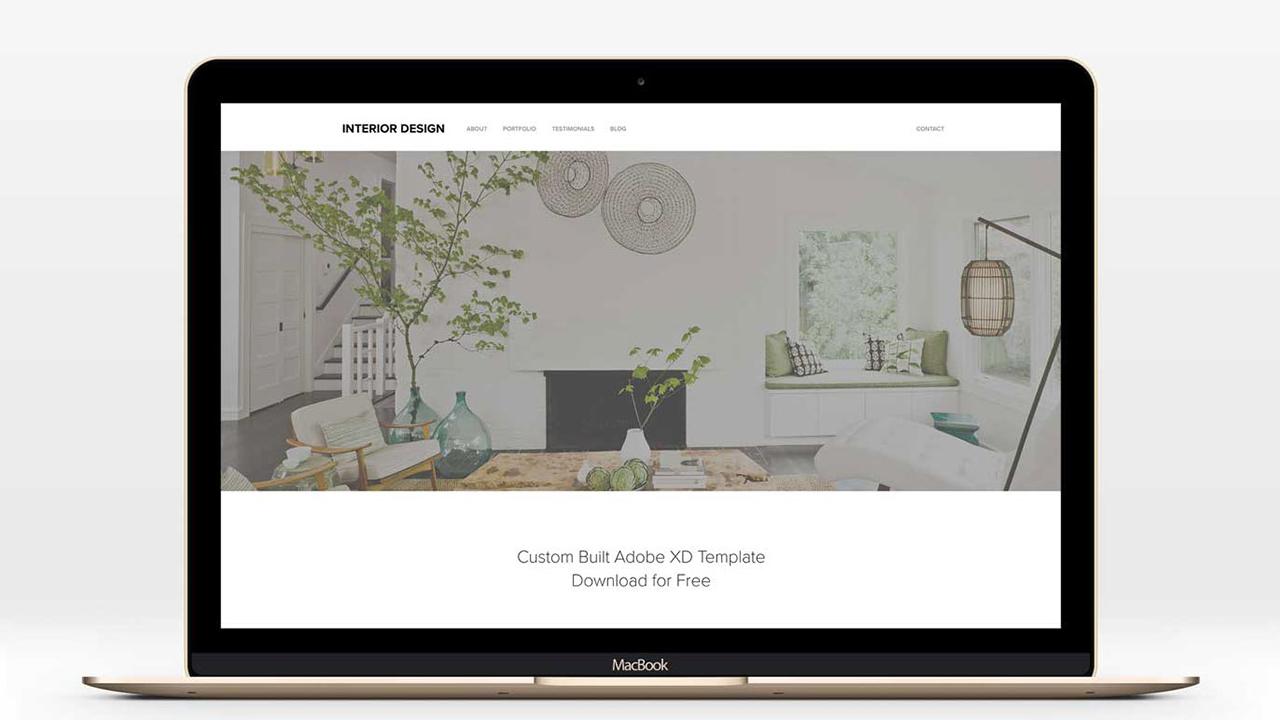 Бесплатный шаблон дизайна веб-сайта для Adobe XD
