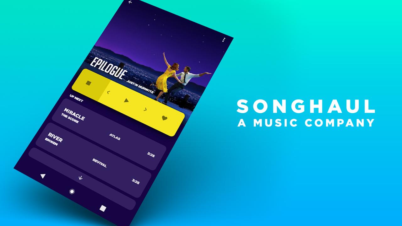 SongHaul – Бесплатный шаблон музыкального приложения сделанный в Adobe XD