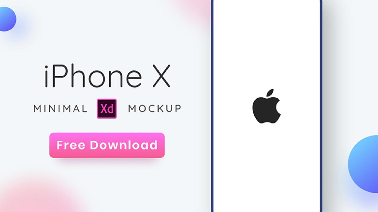 Минималистичный макет iPhone X для Adobe XD