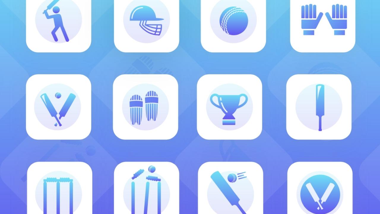 Бесплатный набор иконок спортивных для Adobe XD