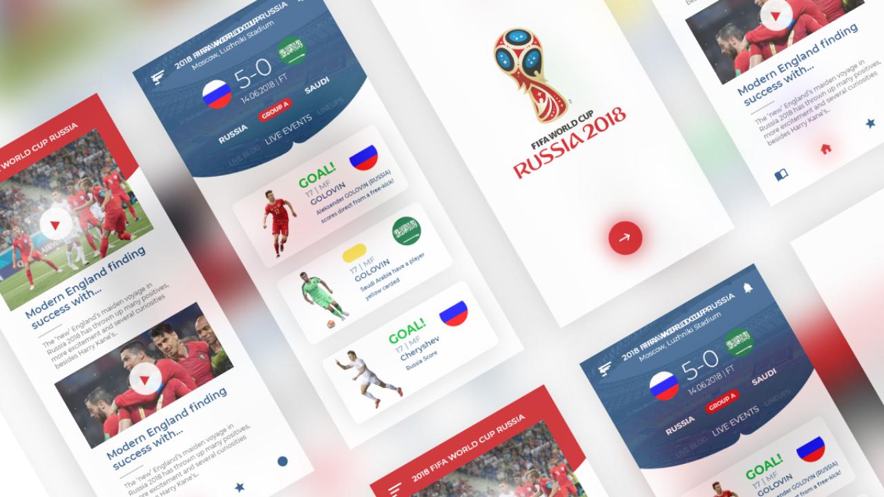 FIFA World Cup – Бесплатный iOS UI Kit для Adobe XD