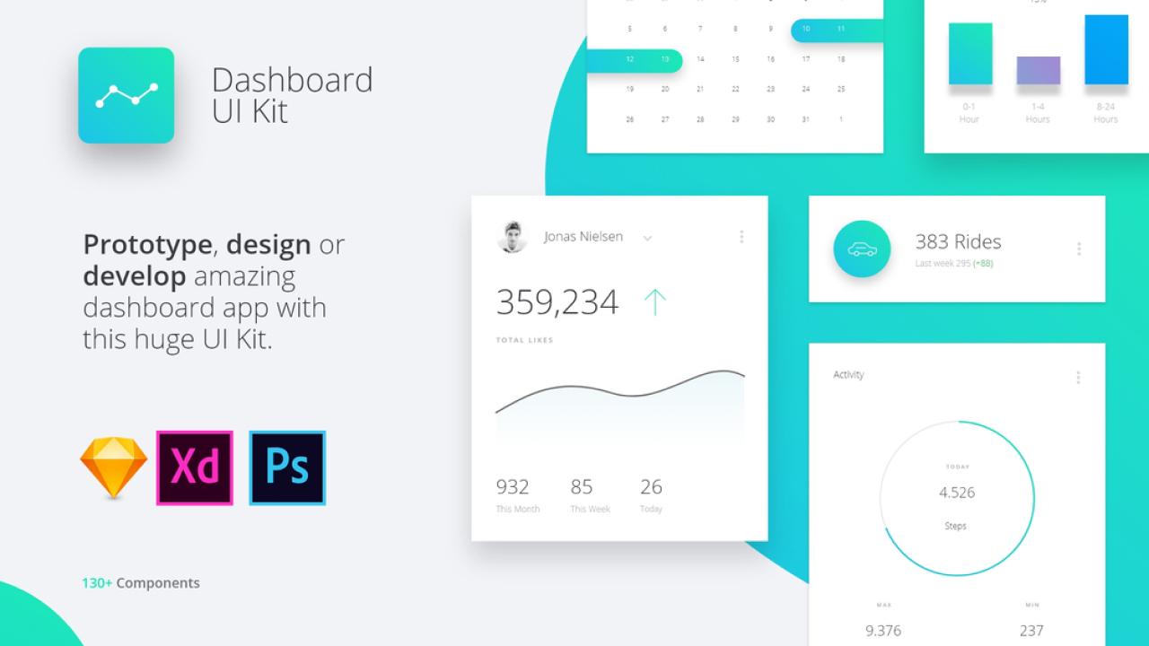 Datta Dashboard UI Kit – 130+ Красивых компонента для замечательных приложений дашборд