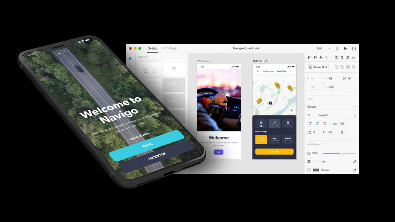 Всё, что вам нужно для создания приложения навигации и транспорта в Adobe XD