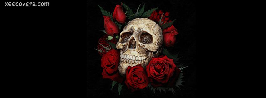 Love Never Dies Quotes Wallpaper Skull Roses Love Never Dies Fb Cover Photo Xee Fb Covers