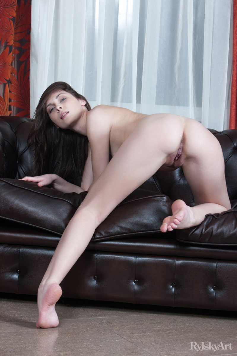Naked girl leather recliner  many