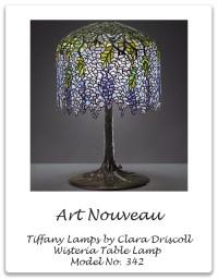 ART NOUVEAU: Tiffany Lamps: Wisteria Table Lamp   Xena Barlow
