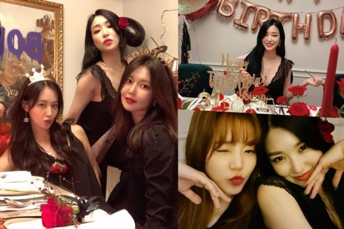 Girls' Generation members celebrate party for Tiffany's birthday and they also used the occasion to celebrate their upcoming 13th anniversary!