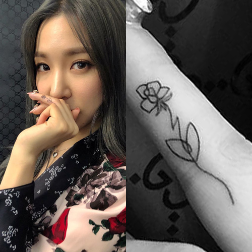 Tiffany Young's tattoo collection
