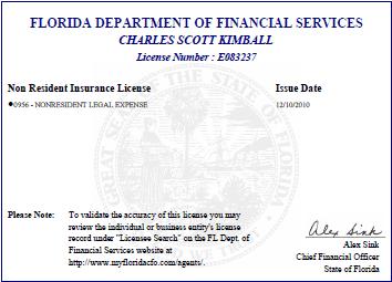 My Florida license