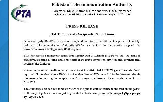 PTA Press Release