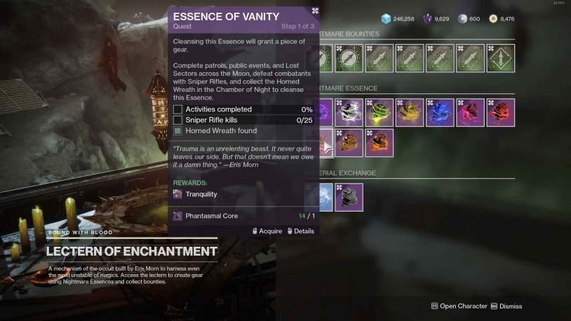 Tranquility God Roll in Destiny 2