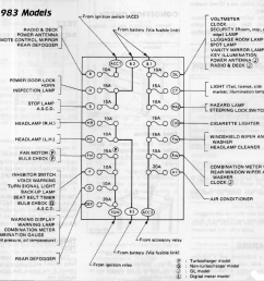 1983 fuse box layout click to open larger  [ 924 x 898 Pixel ]