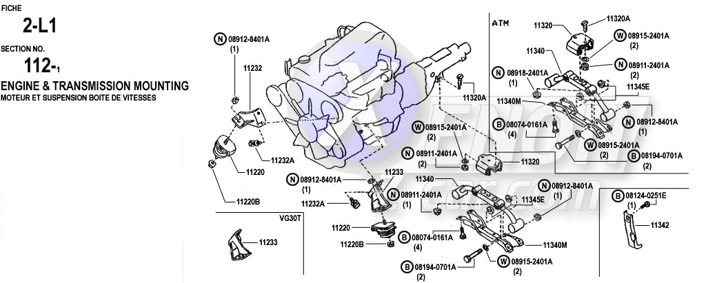 XenonZcar.com Z31 Parts Fiche ENGINE & TRANSMISSION