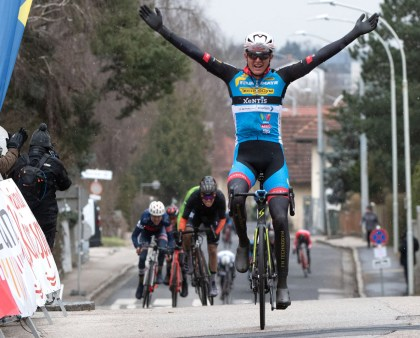 Moran Vermeulen from the Team Felbermayr Simplon Wels wins in Leonding