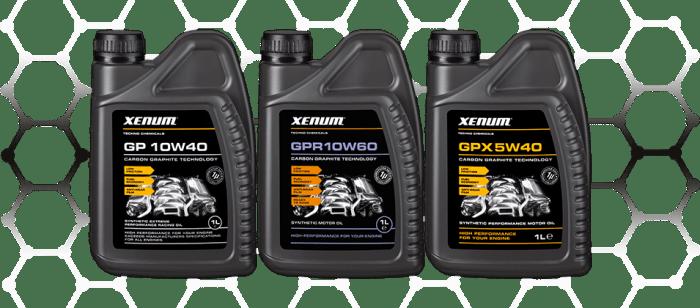Xenum Graphite Oils - High performance oils - GP 10W40 - GPR 10W60 - GPX 5W40