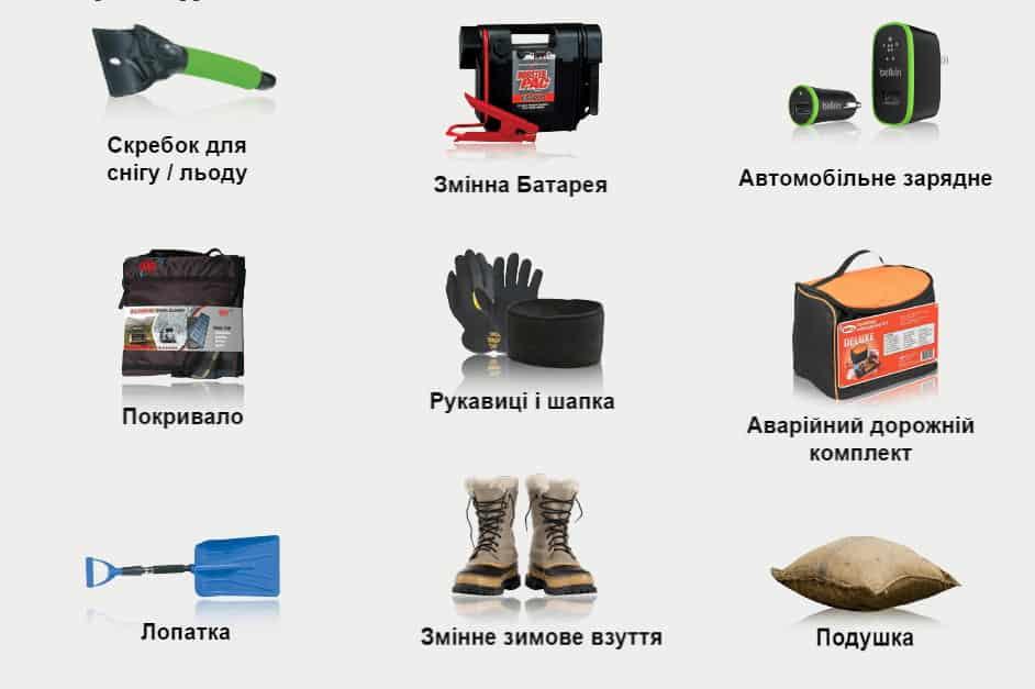 Необхідне у Автомобілі протягом зимового періоду   Xenum Ukraine