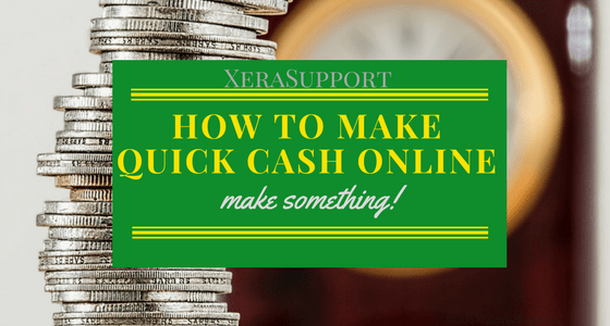 How to Make Quick Cash Online: Write something