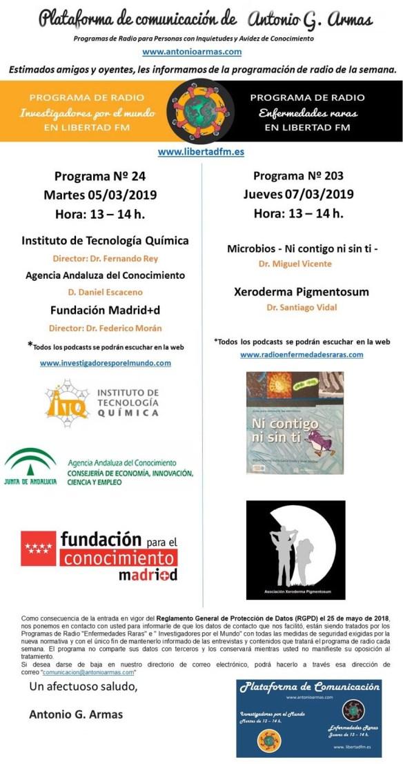 Programa de Radio Xeroderma Pigmentosum-enfermedades raras 7 Marzo 2019