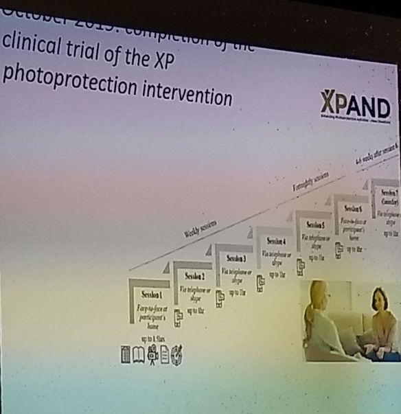 En octubre de 2019 se completaron las pruebas médicas, de la intervención en fotoprotección con pacientes de XP.