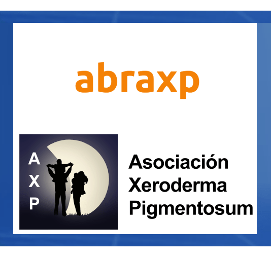 Logos de Abraxp y Asociación Xerodema Pigmentosum