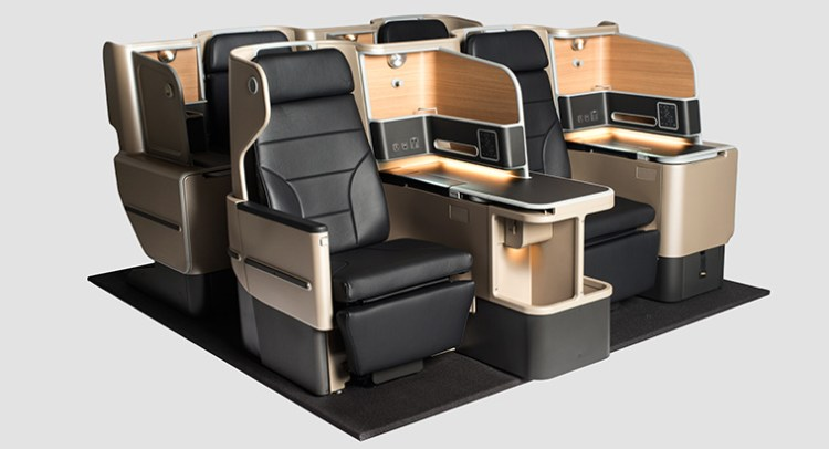 Qantas A330 business class seating