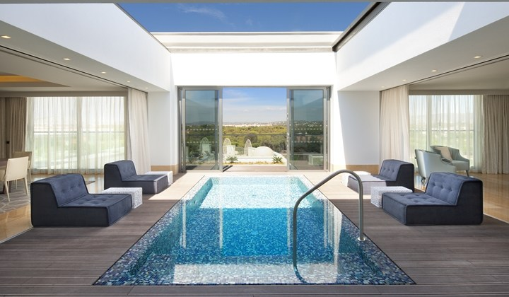 Presidential suite pool at the Conrad Algarve