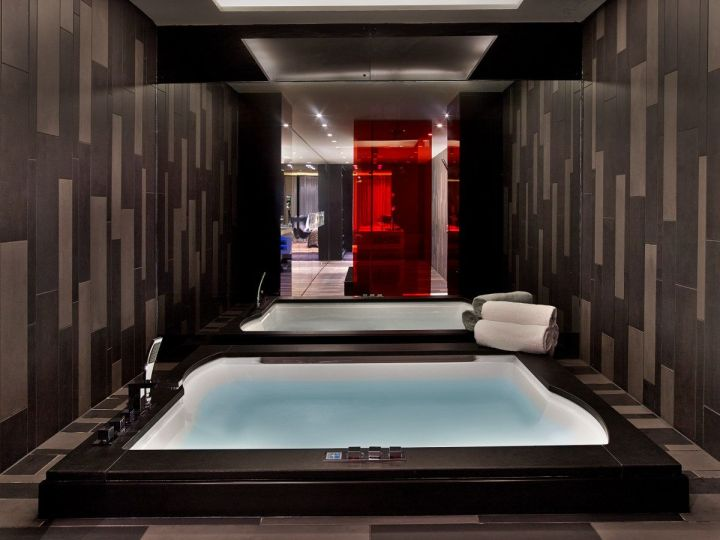 In-room Jacuzzi in the Extreme Wow Suite at the W London Leicester Square