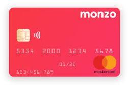 Monzo prepaid card