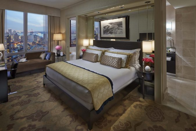 Hudson-river view room at the Mandarin Oriental New York