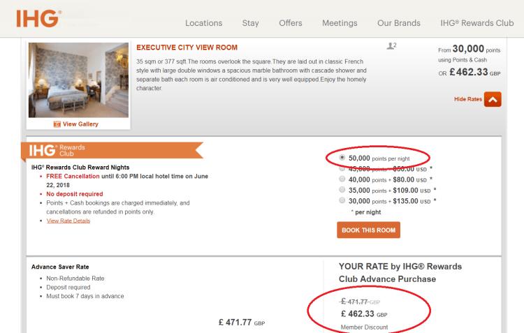IHG Amstel pricing example