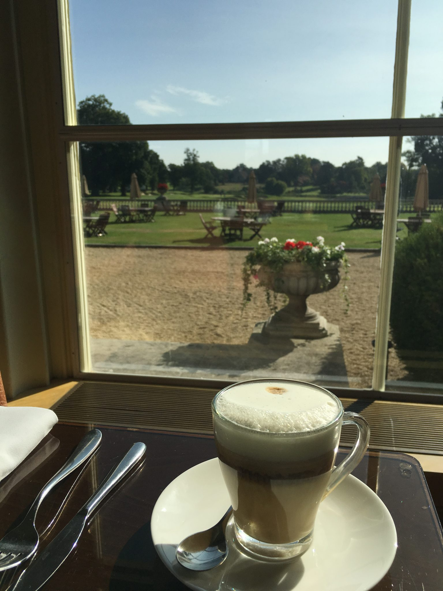Morning coffee at The Orangery
