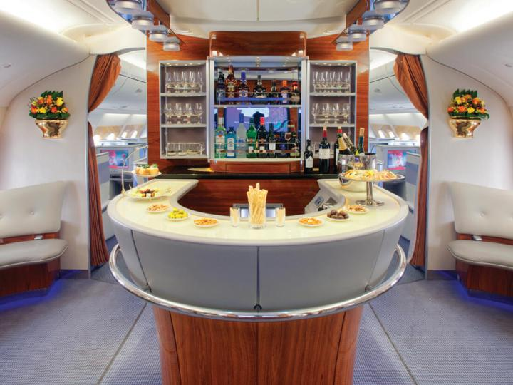 Emirates first & business class onboard bar
