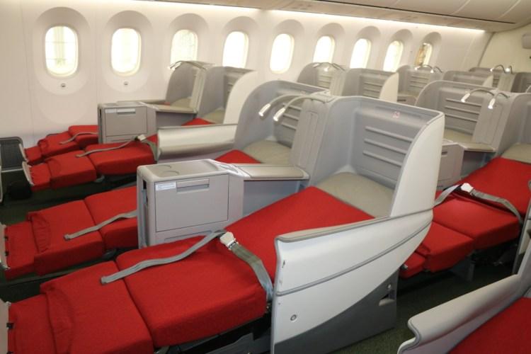 Ethiopian Airways 787 Dreamliner Business Class seats