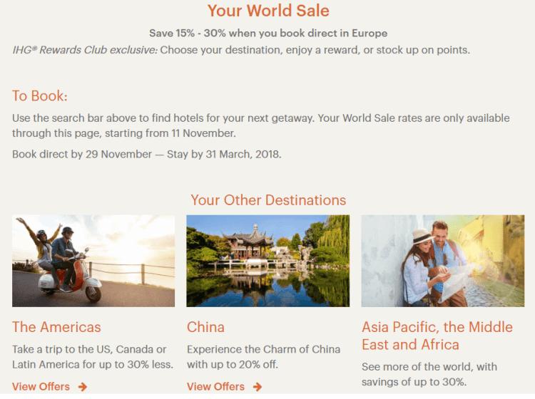 IHG Your World Winter sale